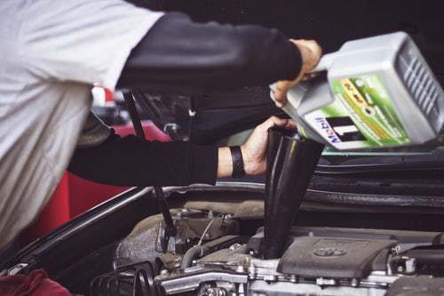 Top up engine oil